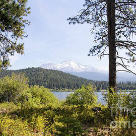 Mt Shasta And Lake Siskiyou In California R1653 by Wingsdomain Art and Photography