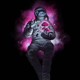 Mushroom Cosmonaut Space Traveller by Sassan Filsoof