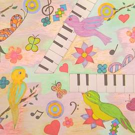 Music Tweets and Butterflies by SarahJo Hawes