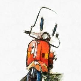 My Little Red Motor Scooter by Edward Fielding
