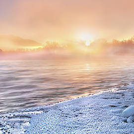 Mystical Winter Morning by Leland D Howard