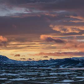 Myvatn Iceland Sunrise by Joan Carroll