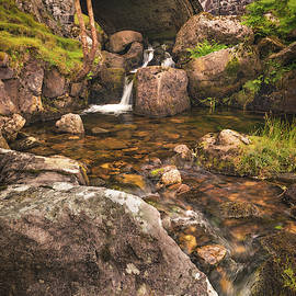 Nant Gaws Waterfall And Old Stone Bridge by Elliott Coleman