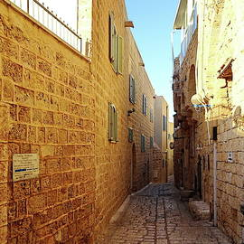 Narrow Street in Old City of Jaffa, Israel by Lyuba Filatova