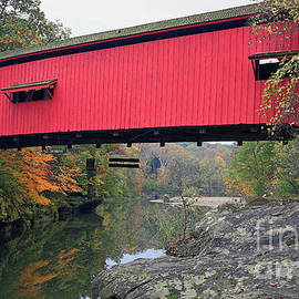 Narrows Covered Bridge, Parke County, Indiana 82 by Steve Gass