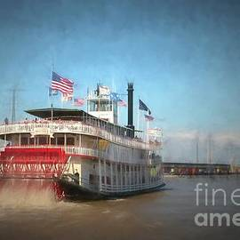 Natchez steamboat in New Orleans by Patricia Hofmeester