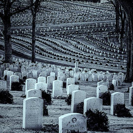 National Cemetery In Black And White by Tom Singleton