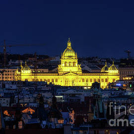 National Museum in Prague at night by Aaron Choi