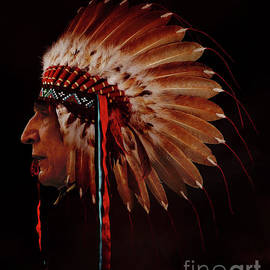 Native face with dress by Gull G