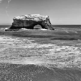 Natural Bridge Beach B W by Connor Beekman