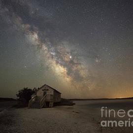 Naturalist Shack Under Starlight  by Michael Ver Sprill