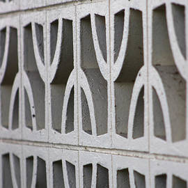 Naturally Abstract - Cement Wall Near Salton Sea by Colleen Cornelius