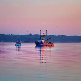Nautical Sunrise - Casco Bay, Maine by Joann Vitali