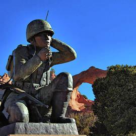 Navajo Code Talker Memorial by Ben Prepelka