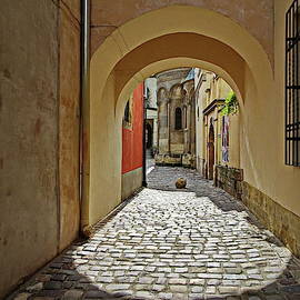 Near the Armenian Cathedral, Lviv, Ukraine by Lyuba Filatova