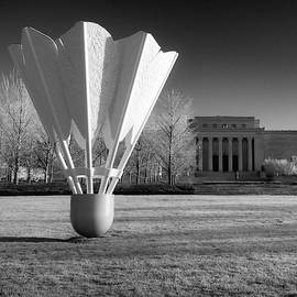 Nelson Atkins Art Museum In Infrared - Kansas City - Square by Gregory Ballos