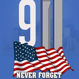 Never Forget 9-11 by Robert Korhonen
