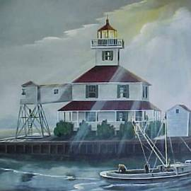 New Canal Lighthouse New Orleans by Teresa Trotter