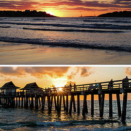 New England Meets Florida Good Harbor Beach Naples Pier Golden Sun by Toby McGuire