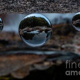 New Hampshire River Through Crystal Balls by Linda Howes