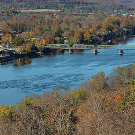 New Hope Pa From On High by William Jobes
