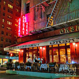 New York at Night - Orsay Restaurant by Miriam Danar