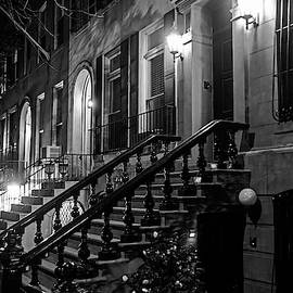 New York City Brownstones  Hell's Kitchen Chelsea Ny Black And White by Toby McGuire