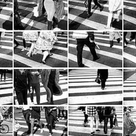 New York City Crossings Collage by John Rizzuto