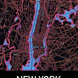 New York City Map by Helge