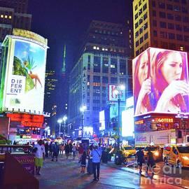 New York City, Night Shot Vision # 2 by Poet's Eye