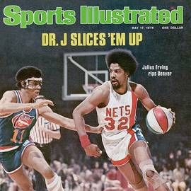 New York Nets Julius Erving, 1976 Aba Championship Sports Illustrated Cover