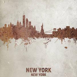Michael Tompsett - New York Rust Skyline