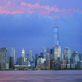 New York Skyline by Stamp City