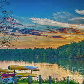 Newport Lake Orange Glow by Janice Pariza