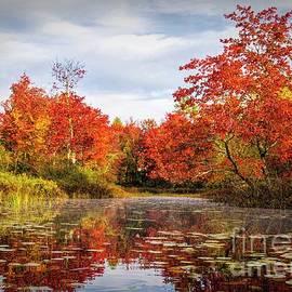 Nezinscot River - Autumn Reflections by Jan Mulherin