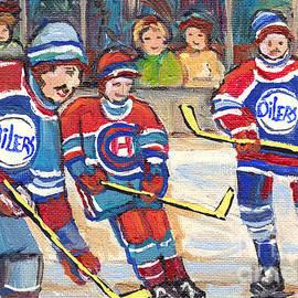 Nhl Hockey Games From The Forum To Bell Center Hockey Town Montreal Canadiens C Spandau Hockey Art   by Carole Spandau