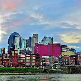 Night Approaches in Nashville by Skyline Photos of America