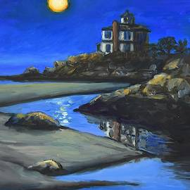 Night on Good Harbor Beach, Gloucester, MA by Eileen Patten Oliver