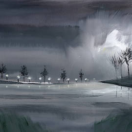 Night Walk 2 by Anil Nene