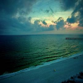 Nightfall at Pensacola Beach by Debra Grace Addison