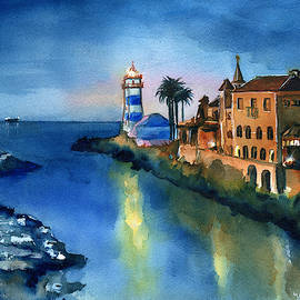 Nightfall in Cascais Portugal by Dora Hathazi Mendes