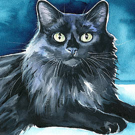 Noah Black Cat Painting by Dora Hathazi Mendes