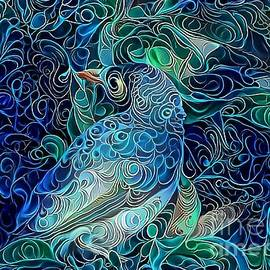 Noisy Miner Abstract by Trudee Hunter