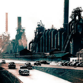 North Side Steel Works - Pittsburgh - Circa 1954 by Doc Braham