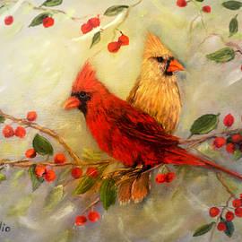 Northern Cardinal Pair by Loretta Luglio
