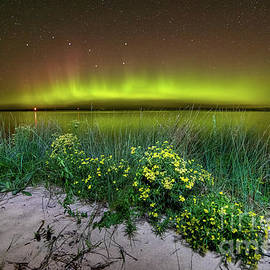 Northern Lights Over Lake Superior -9906 by Norris Seward