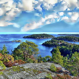 Norway Coastal Scene by Anthony Dezenzio