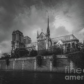 Notre Dame and the Seine River, Paris 2016 by Liesl Walsh