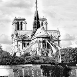 Notre Dame Cathedral Paris France by Toula Mavridou-Messer