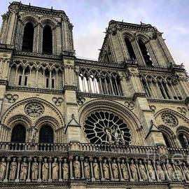 Notre Dame Cathedral Western Facade by Luther Fine Art